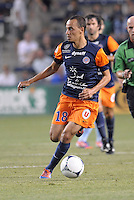 Karim Alt Fana (18) forward Montpellier in action..Sporting Kansas City were defeated 3-0 by Montpellier HSC in an international friendly at LIVESTRONG Sporting Park, Kansas City, KS..