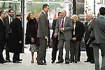 King Felipe VI of Spain and King Juan Carlos during the main event of COTEC at Crystal Gallery of the Cibeles Palace in Madrid, Spain, November 23, 2015. <br /> (ALTERPHOTOS/BorjaB.Hojas)