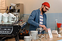 Caf&egrave; Milch, Ditmar-Koel-Str.22, Hamburg- Neustadt, Deutschland, Europa<br /> Caf&egrave; Milch, Ditmar-Koel-Str.22, Hamburg- Neustadt, Germany, Europe