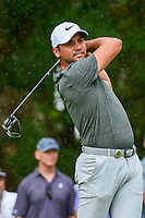 Jason Day (AUS) watches his tee shot on 5 during Friday's round 2 of the PGA Championship at the Quail Hollow Club in Charlotte, North Carolina. 8/11/2017.<br /> Picture: Golffile | Ken Murray<br /> <br /> <br /> All photo usage must carry mandatory copyright credit (&copy; Golffile | Ken Murray)