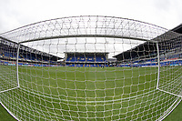 A view through the goal towards the Sir Alf Ramsey Stand at Portman Road during Ipswich Town vs Sunderland AFC, Sky Bet EFL League 1 Football at Portman Road on 10th August 2019