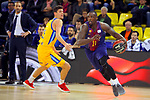 League ACB-ENDESA 2017/2018 - Game: 12.<br /> FC Barcelona Lassa vs Herbalife Gran Canaria: 77-88.<br /> Oriol Pauli vs Rakim Sanders.
