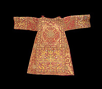 BNPS.co.uk (01202 558833)<br /> Pic: IndarPasricha/BNPS<br /> <br /> Star lot - Part of the incredibly ornate vestments made for Philip II of Spain's palace chapel and worth around &pound;1 million.<br /> <br /> From High Fashion to the High Church...<br /> <br /> An incredible collection of 17th century ecclesiastical textiles, that actually started life as luxury fashion worn by the aristocratic women of the day, has emerged for sale.<br /> <br /> The historically important ensemble highlights a golden moment in European textile production dating from 1690 to 1720 when free reign was given to intricate dress designs in gold and silk that was soon adopted by the senior members of the church to adorn they're otherwise plain vestments.<br /> <br /> The valuable collection, assembled over two decades, is now being sold with prices ranging from &pound;5,000 all the way to &pound;1m.