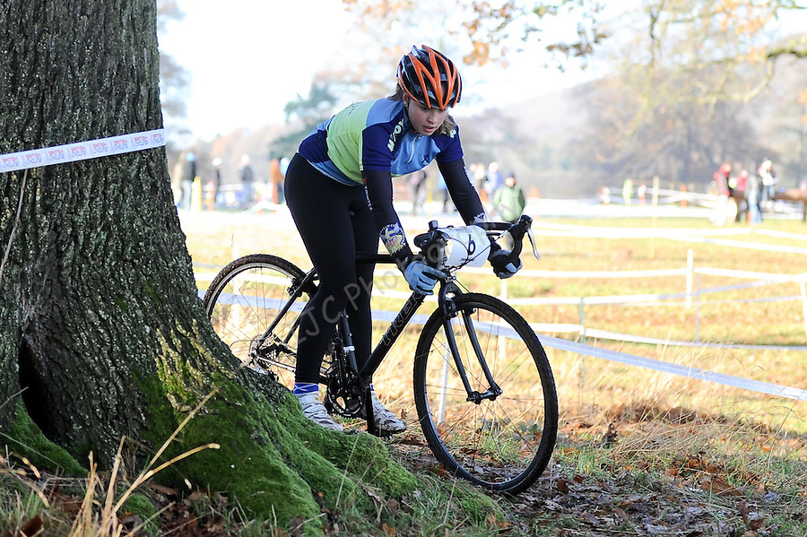 Emily Haycox of  Maindee Flyers  in action ..Welsh Cyclo-cross Championships 2010 -  05-December 2010 - Copyright IJC Sports Photography - PLEASE CREDIT - Ian Cook - IJC Sports photography -