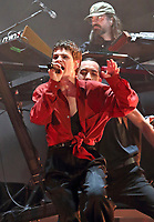 Christine and the Queens performing live on stage, headlining Day Three of the All Points East Festival at Victoria Park in London. May 26th 2019<br />