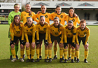 20200226 – KALMTHOUT , BELGIUM :  Belgian team with Faye Lamertijn (1)   Heike Maelfait (2)  Lina Meeuwis (3)   Auke Swevers (4)   Gaelle Nierynck (5)   Fleur Pauwels (6)   Fleur Van Daele (7)   Marie Detruyer (8)   Hannah Eurlings (9)   Luna Vanzeir (10)   Estee Cattoor (11)pictured during a friendly soccer game between the national youth Women Under 17 teams of Belgium and The Netherlands , a friendly football game in preparation for the UEFA Elite rounds in March in Belgium for the Belgian team , Wednesday 26 th February 2020 at the Heikant sportpark in Kalmthout , Belgium . PHOTO SPORTPIX.BE | DIRK VUYLSTEKE