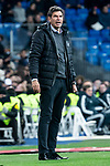 Coach Mauricio Pellegrino of CD Leganes during King's Cup 2018-2019 match between Real Madrid and CD Leganes at Santiago Bernabeu Stadium in Madrid, Spain. January 09, 2019. (ALTERPHOTOS/Borja B.Hojas)