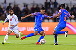 Salam Ranjan Singh of India (C) in action during the AFC Asian Cup UAE 2019 Group A match between India (IND) and Bahrain (BHR) at Sharjah Stadium on 14 January 2019 in Sharjah, United Arab Emirates. Photo by Marcio Rodrigo Machado / Power Sport Images