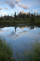 Late Afternoon at the Vermillion Lakes in Banff, just before Sunset
