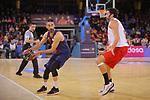 League ACB-ENDESA 2017/2018 - Game: 20.<br /> FC Barcelona Lassa vs Retabet Bilbao Basket: 90-58.<br /> Juan Carlos Navarro vs Alex Mumbru.