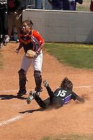 SAN ANTONIO, TX - APRIL 14, 2007: The Northwestern State University Demons vs. The University of Texas at San Antonio Roadrunners Softball at Roadrunner Field. (Photo by Jeff Huehn)