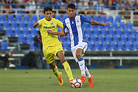 during the XXXVII trophy of Legane's City between CD Leganes and Villarreal CF at Butarque Stadium. August 13, 2016. (ALTERPHOTOS/Rodrigo Jimenez) /NORTEPHOTO