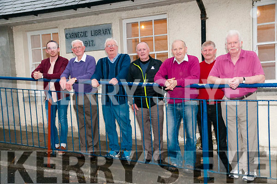 Athea Tidy Town's committee pictured outside the Carneigie Library. L-R : Damiem Ahern, Ted Hunt, Lal Browne, Donal de Barra, John Scanlan, Donnacha Quille & Jim O'Sullivan