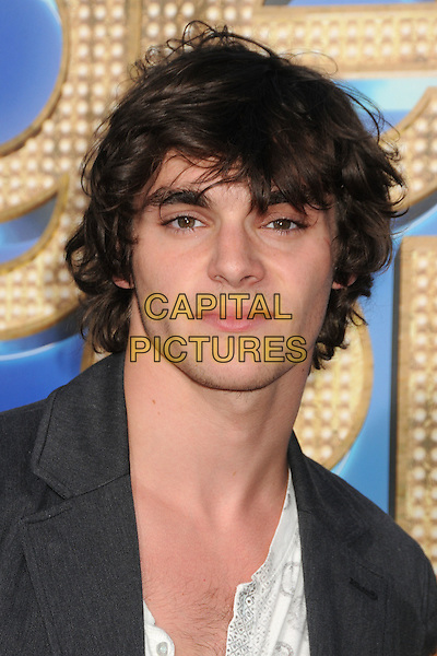 """Roy Frank """"RJ"""" Mitte III.The 20th Century Fox 'Glee 3D' Concert World Movie Premiere held at The Regency Village theatre in Westwood, California, USA,.August 6th 2011..headshot portrait black..CAP/ADM/BP.©Byron Purvis/AdMedia/Capital Pictures."""