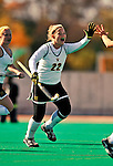 24 October 2008: University of Vermont Catamounts' forward Megan Maynard, a Junior from Waterbury Center, VT, in action against the Hofstra University Pride at Moulton Winder Field, in Burlington, Vermont. The Catamounts shut out the visiting Pride 3-0...Mandatory Photo Credit: Ed Wolfstein Photo