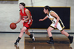 Palos Verdes, CA January 19, 2010 - Victoria Yutronich (32) and Lindsey Sugimoto (25) in action during the Palos Verdes vs Peninsula Panthers basketball game at Peninsula High School.