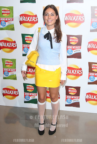 Louise Thompson arriving at Walkers' Bring It Back campaign launch party held at Vinopolis, London. <br /> September 3, 2015  London, UK<br /> Picture: James Smith / Featureflash