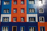 Colourful apartment building in Anadyr