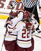 Ashley Motherwell (BC - 18), Haley Skarupa (BC - 22) - The Boston College Eagles tied the visiting Boston University Terriers 5-5 on Saturday, November 3, 2012, at Kelley Rink in Conte Forum in Chestnut Hill, Massachusetts.