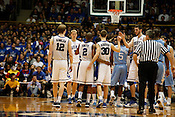 The powerful trio of Nolan Smith, Kyle Singler and Jon Scheyer celebrate during the last regular season game at Cameron Indoor Stadium. Duke laid waste to visiting UNC 82-50, with Smith, Singler and Scheyer scoring a combined 65 points.