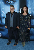 "LOS ANGELES, CA July 12- Patton Oswalt, Meredith Salenger  At Premiere Of HBO's ""Game Of Thrones"" Season 7 at The Walt Disney Concert Hall, California on July 12, 2017. Credit: Faye Sadou/MediaPunch"