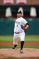 Kane County Cougars pitcher Ethan Elias (6) delivers a pitch during a game against the Great Lakes Loons on August 13, 2015 at Fifth Third Bank Ballpark in Geneva, Illinois.  Great Lakes defeated Kane County 7-3.  (Mike Janes/Four Seam Images)