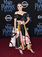 29 November 2018 - Hollywood, California - Meg Donnelly. &quot;Mary Poppins Returns&quot; Los Angeles Premiere held at The Dolby Theatre.   <br /> CAP/ADM/BT<br /> &copy;BT/ADM/Capital Pictures