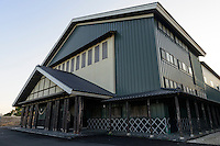 Buildings at Sata Souji Shoten Shochu Distillery, Minami Kyushu, Kagoshima Pref, Japan, December 20, 2016. The Sata Souji Shoten Shochu Distillery makes shochu spirits from local sweet potatoes. In recent years the distillery has imported grappa, brandy, calvados stills from Europe to experiment with new distilling techniques. They have attracted considerable attention from the media and other distillers as leading innovators in their industry.