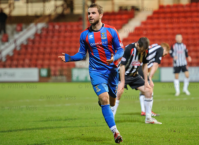 Andrew Shinnie scores goal no 2 for Inverness and celebrates