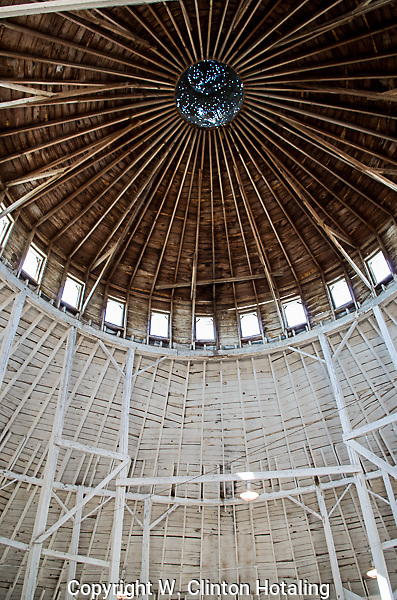 The century-old Round Barn at the Marquette County Fairgrounds in Westfield, Wisconsin is a testament to sound building principles and solid workmanship.