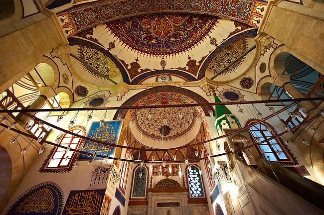 Interior of the Serafeddin Camii (Mosque) Konya, Turkey