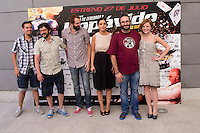 24.07.2012. Presentation at the Madrid Film Academy of the movie 'Impavido&acute;, directed by Carlos Theron and starring by Marta Torne, Selu Nieto, Nacho Vidal, Carolina Bona, Julian Villagran and Manolo Solo. In the image Selu Nieto, Nacho Vidal, Manolo Solo, Julian Villagran, Marta Torne, Carlos Theron and Carolina Bona (Alterphotos/Marta Gonzalez) /NortePhoto.com*<br />