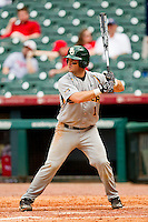 Joey Hainsfurther #1 of the Baylor Bears at bat against the Houston Cougars at Minute Maid Park on March 4, 2011 in Houston, Texas.  Photo by Brian Westerholt / Four Seam Images