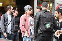 EXCLUSIVE... Exclusif.....Exclusif.....Exclusif.....Exclusif......Axl Rose of Guns N 'Roses front of the antenna of the police headquarters in Paris 12th arrondissement, at 163 Rue de Charenton, June 6, 2012 at 19h following the theft of jewelry stolen from her dressing room at Bercy, the day before. The thief would have rendered the stolen goods, and the singer would come to retrieve them.  .. / Mediapunchinc