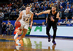 BROOKINGS, SD - NOVEMBER 6: Mike Daum #24 from South Dakota State University gets a step past 	Michael Finke #43 from Grand Canyon University during their game Tuesday night at Frost Arena in Brookings, SD. (Photo by Dave Eggen/Inertia)