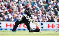 Mitchell Santner batting.<br /> New Zealand Blackcaps v England. 5th ODI International one day cricket, Hagley Oval, Christchurch. New Zealand. Saturday 10 March 2018. &copy; Copyright Photo: Andrew Cornaga / www.Photosport.nz
