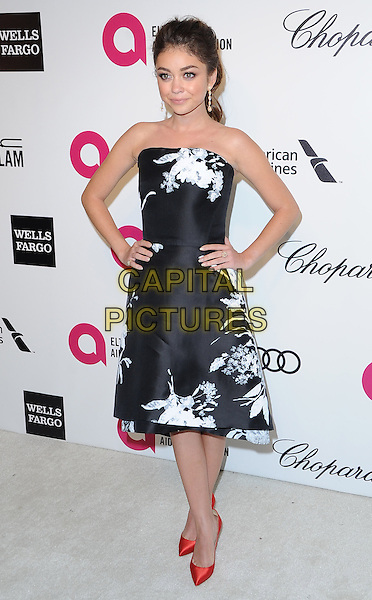 Sarah Hyland attends the 2014 Elton John AIDS Foundation Academy Awards Viewing Party in West Hollyood, California on March 02,2014                                                                               <br /> CAP/DVS<br /> &copy;DVS/Capital Pictures