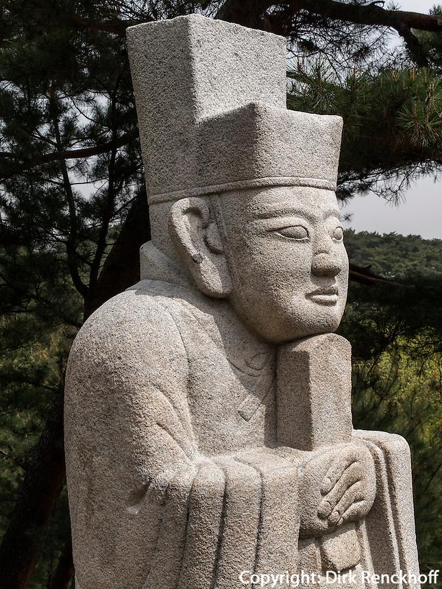 K&ouml;nigsgrab Jeongneung der Joseon-Dynastie Seoul, S&uuml;dkorea, Asien, UNESCO-Weltkulturerbe<br /> Royal tombJeongneung  of Joseon-dynasty,  Seoul, South Korea, Asia, Worl-heritage