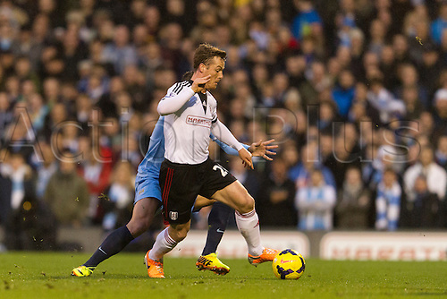 21.12.2013 London, England.  Fulham's Scott PARKER during the Premier League game between Fulham and Manchester City from Craven Cottage.