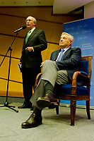File photo shows George Soros chairman of the Soros Fund, founder and honorary chairman of the Central European University waits to deliver a speech about Reflexivity at Work in the European Union at the Central European University in Budapest, Hungary on November 03, 2011. ATTILA VOLGYI