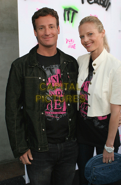 "TODD TRAINA & GUEST.""Punks Not Dead"" Los Angeles Premiere held at the Henry Fonda Music Box Theater, Hollywood, California, USA..May 30th, 2007.half length black jacket white .CAP/ADM/CH.©Charles Harris/AdMedia/Capital Pictures"