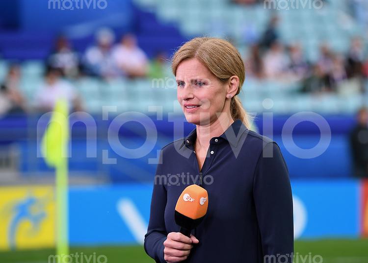 FUSSBALL FIFA Confed Cup 2017 Vorrunde in Sotchi 19.06.2017  Australien - Deutschland  ZDF Sportmoderatorin Katrin Mueller-Hohenstein