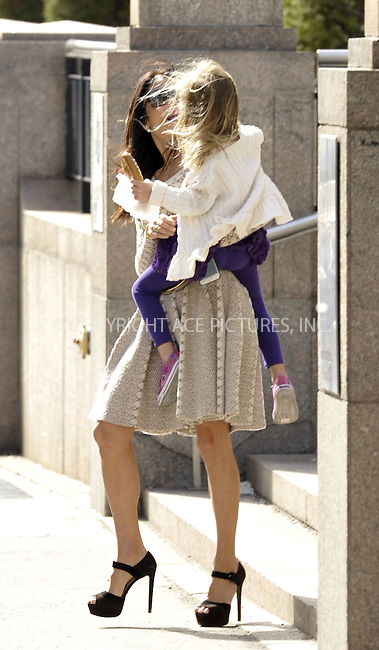 WWW.ACEPIXS.COM<br /> <br /> April 29 2015, New York City<br /> <br /> Bethenny Frankel takes her daughter Bryn Hoppy for a walk in downtown Manhattan on April 29 2015 in New York City<br /> <br /> Please byline: Curtis Means/ACE Pictures<br /> <br /> ACE Pictures, Inc.<br /> www.acepixs.com, Email: info@acepixs.com<br /> Tel: 646 769 0430