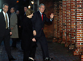 Alexandria, VA - December 21, 2008 -- United States President George W. Bush and wife, Laura, arrive at Christ Church in Old Town Alexandria, Virginia for Sunday morning services, Sunday, December 21, 2008..Credit: Martin H. Simon / Pool via CNP