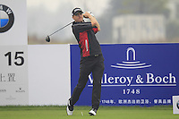 Michael Hoey (NIR) tees off the 15th tee during Friday's Round 2 of the 2014 BMW Masters held at Lake Malaren, Shanghai, China 31st October 2014.<br /> Picture: Eoin Clarke www.golffile.ie