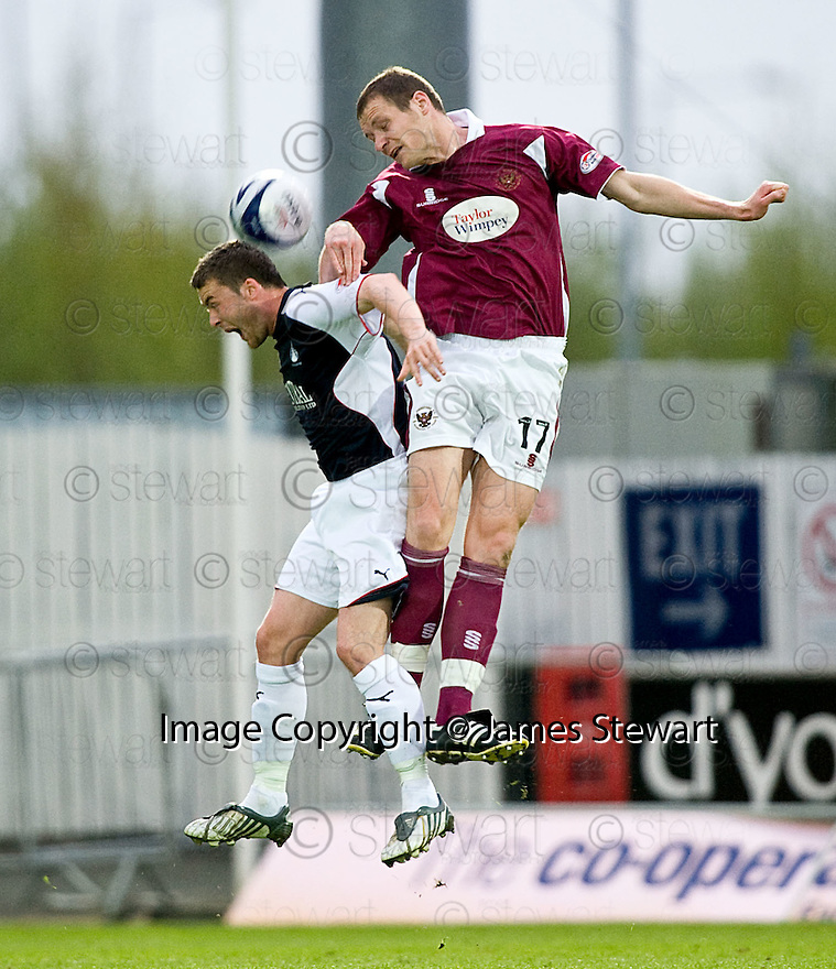 05/05/2010   Copyright  Pic : James Stewart.sct_js007_falkirk_v_st_johnstone  .::  KENNY DEUCHAR GETS ABOVE THOMAS SCOBBIE ::  .James Stewart Photography 19 Carronlea Drive, Falkirk. FK2 8DN      Vat Reg No. 607 6932 25.Telephone      : +44 (0)1324 570291 .Mobile              : +44 (0)7721 416997.E-mail  :  jim@jspa.co.uk.If you require further information then contact Jim Stewart on any of the numbers above.........