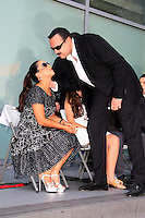 LOS ANGELES -JUL 26: Pepe Aguilar, wife Aneliz at a ceremony honoring Pepe Aguilar with a Star on The Hollywood Walk of Fame on July 26, 2012 in Los Angeles, California