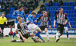 St Johnstone v Dunfermline....25.02.12   SPL.Murray Davidson scores the first goal.Picture by Graeme Hart..Copyright Perthshire Picture Agency.Tel: 01738 623350  Mobile: 07990 594431