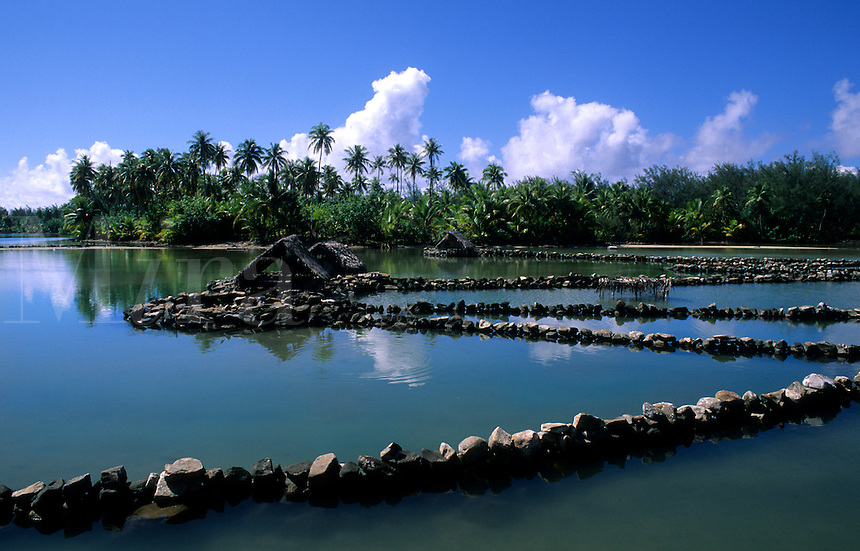 Fishing huts and canals, Tahiti, French Polynesia, South Pacific Rim