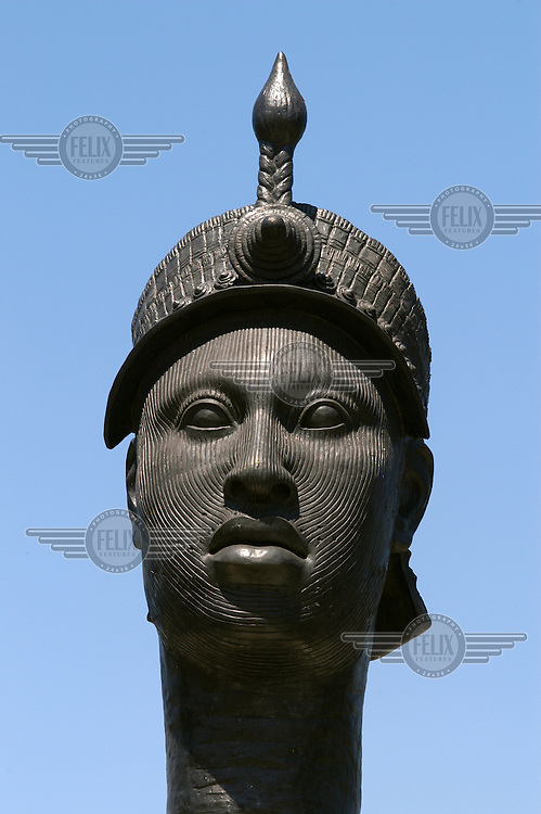 Statue of Zumbi, slave leader and national hero.